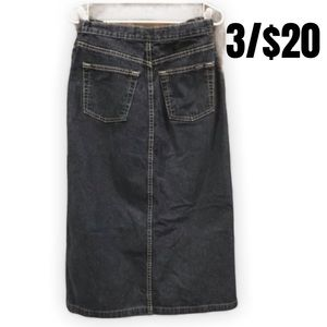 "Thyme Maternity jean skirt 31"" long"
